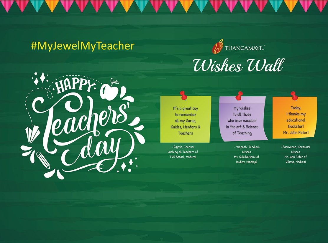 Teacher's Day Wishing Wall