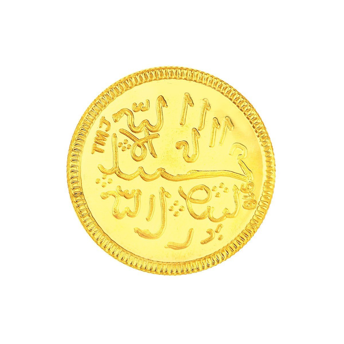 4 Grams 22 Carat Crescent Moon Gold Coin
