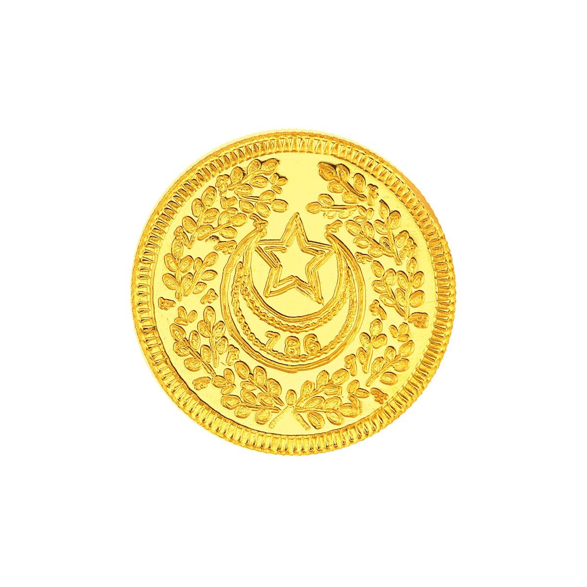 2 Grams 22 Carat Crescent Moon Gold Coin