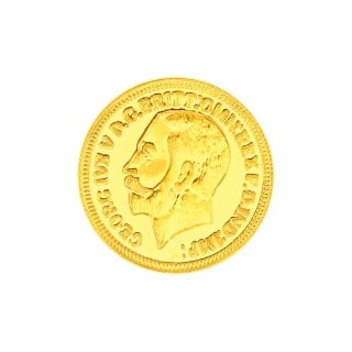 2 Grams 22 Carat King George Gold Coin