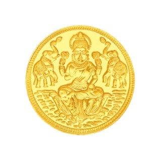 8 Grams 22 Carat Laxmi Gold Coin