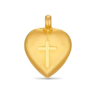 Heart In Cross Gold Mangalyam