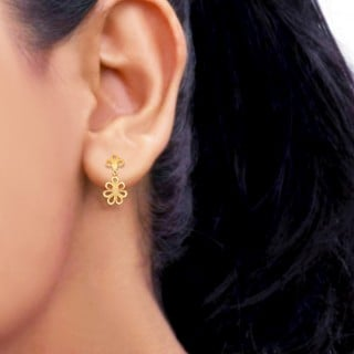 Plain Gold Earring