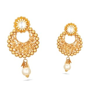 Wedding Gold Earring
